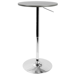 "Arthur 23"" Gray Adjustable Bar Table"