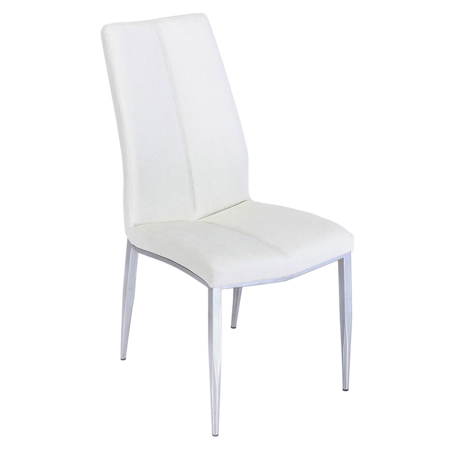Arturo Textured White Modern Dining Side Chair