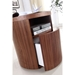 Arya Round Walnut Modern Nightstand + End Table