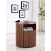 Arya Walnut Contemporary Nightstand + End Table