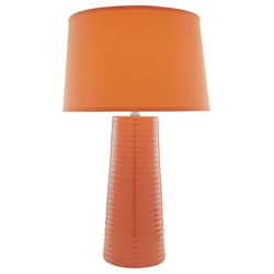 Ashanti Table Lamp in Orange
