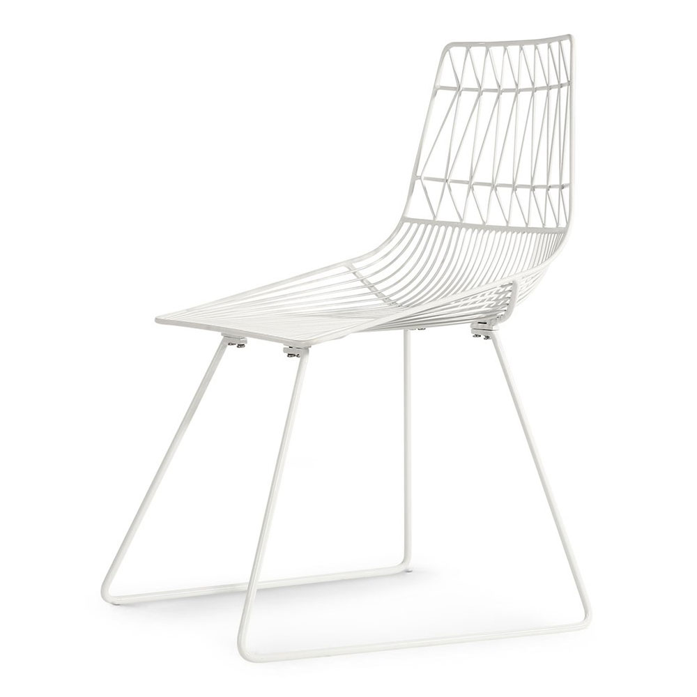 Asherton White Powder Coated Metal Modern Dining Chair
