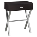 Astoria Modern Cappuccino Nightstand Side Table