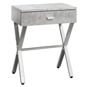 Astoria Modern Gray Cement Nightstand Side Table