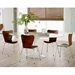 Ashbury White Metal + Wood Oval Tulip Style Contemporary Dining Table
