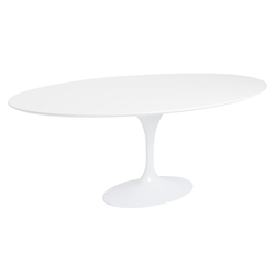 Ashbury White Oval Tulip Style Modern Dining Table
