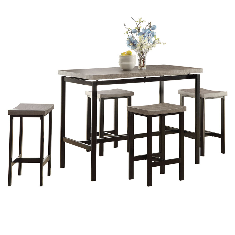 Athens Modern Weathered Counter Stool Set