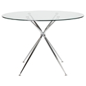 Atos 48 Inch Round Modern Glass Dining Table