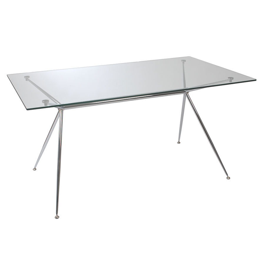 White modern dining table - Atlanta Modern 60 Inch Dining Table