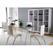 Atlanta Modern Glass + Chrome Dining Table
