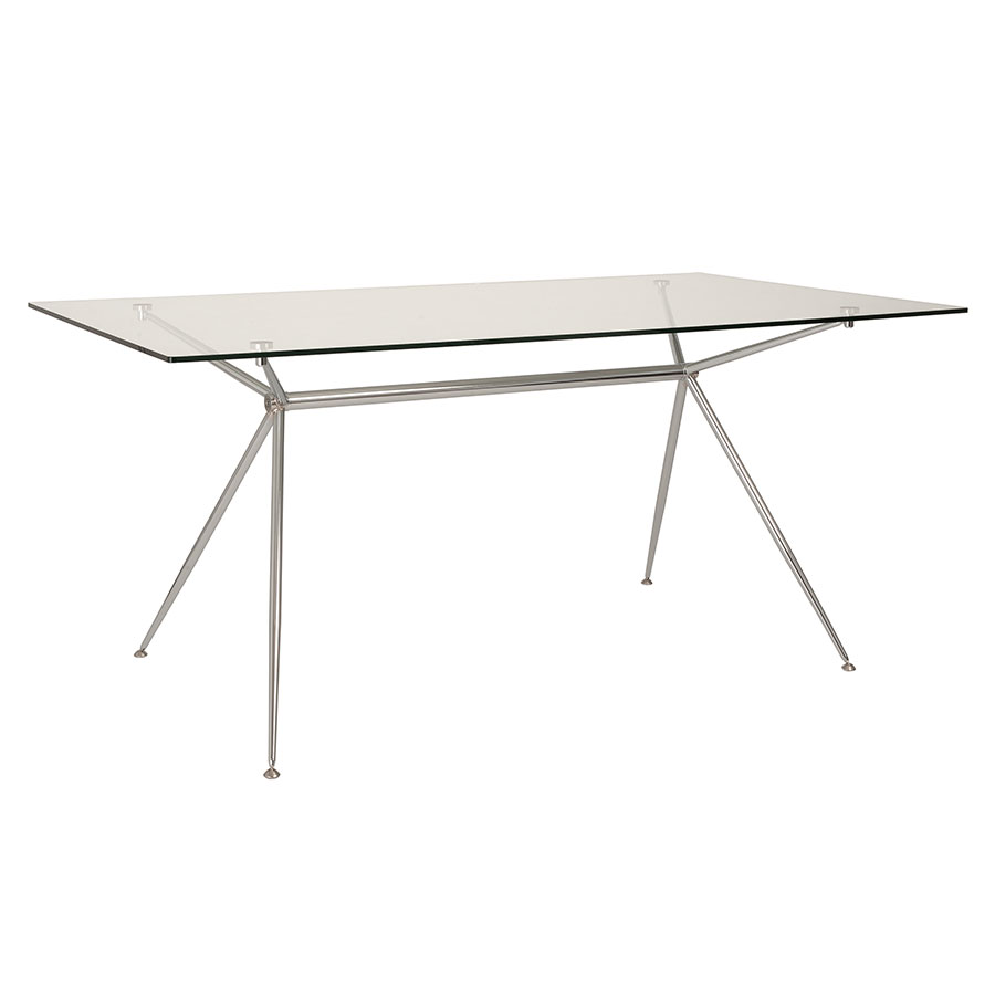 Atlanta 66 Inch Modern Glass Dining Table