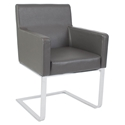 Atlas Modern Dining Arm Chair in Gray