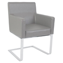 Atlas Modern Dining Arm Chair in Light Gray