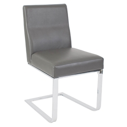 Atlas Modern Dining Side Chair in Gray