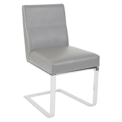 Atlas Modern Dining Side Chair in Light Gray