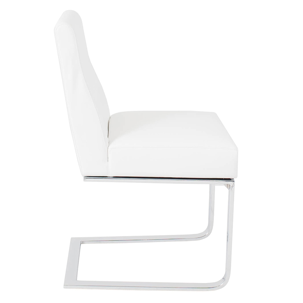 Modern Dining Chairs Atlas White Side Chair Eurway