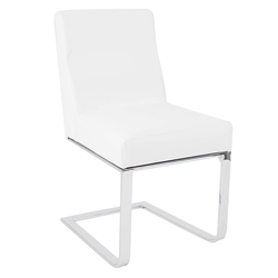 Atlas Modern Dining Side Chair in White
