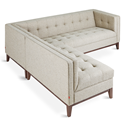 Gus* Modern Atwood Bi-Sectional Sofa in Leaside Driftwood