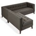 Gus* Modern Atwood Bi-Sectional Sofa in Totem Storm