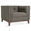 Atwood Contemporary Lounge Chair in Bayview Osprey and Walnut by Gus* Modern