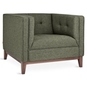 Atwood Contemporary Lounge Chair in Parliament Moss and Walnut by Gus* Modern