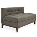 Gus* Modern Atwood Lounge in Bayview Osprey Fabric Upholstery with Walnut Wood Base
