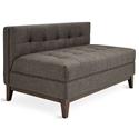 Atwood Mid Century Modern Loveseat in Totem Storm Fabric Upholstery with Walnut Wood Base by Gus* Modern