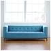 Atwood Contemporary Sofa in Muskoka Surf - Lifestyle