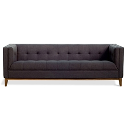 Atwood Contemporary Sofa in Urban Tweed Ink