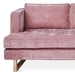 Gus* Modern Aubrey Contemporary Sofa in Marais Cerise Fabric Upholstery and Solid Natural Ash Wood Base