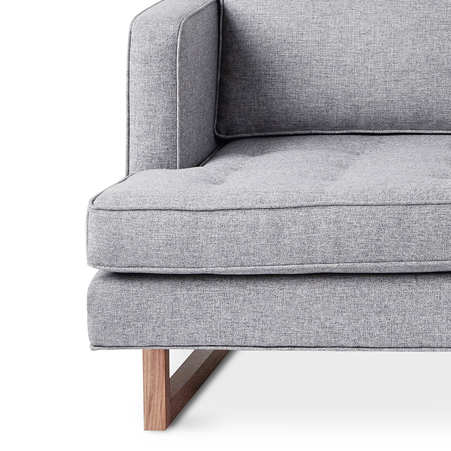 ... Aubrey Modern Sofa In Parliament Stone Upholstery With Solid Walnut  Base By Gus* Modern ...