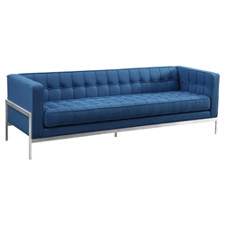 Aukland Modern Blue Fabric Sofa