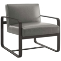 Austin Modern Gray Faux Leather Lounge Chair