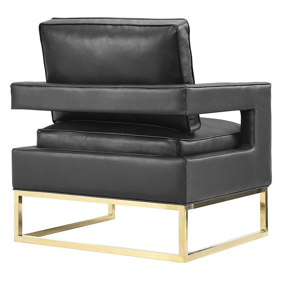 Popular 225 list modern black leather chair for Contemporary black leather chairs