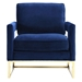 Austria Blue Velvet Modern Lounge Chair