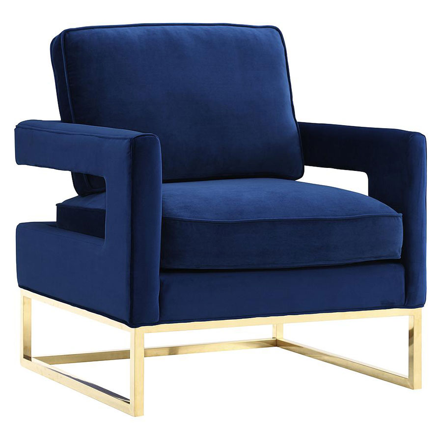 Modern Chairs Austria Blue Velvet Chair Eurway