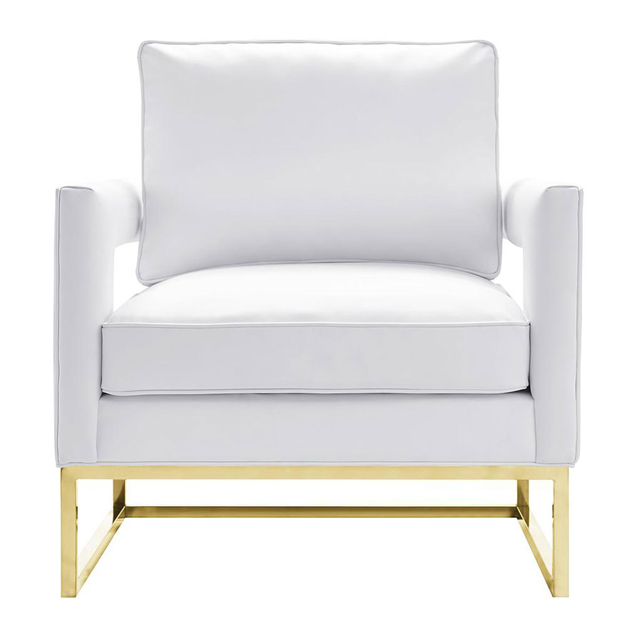 Delicieux ... Austria White Leather Modern Lounge Chair ...