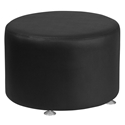 Avalon Modern 24 In. Round Ottoman in Black