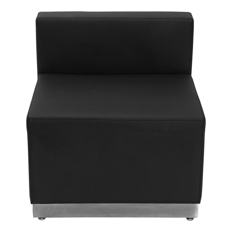Avalon Modern Modular Armless Chair in Black