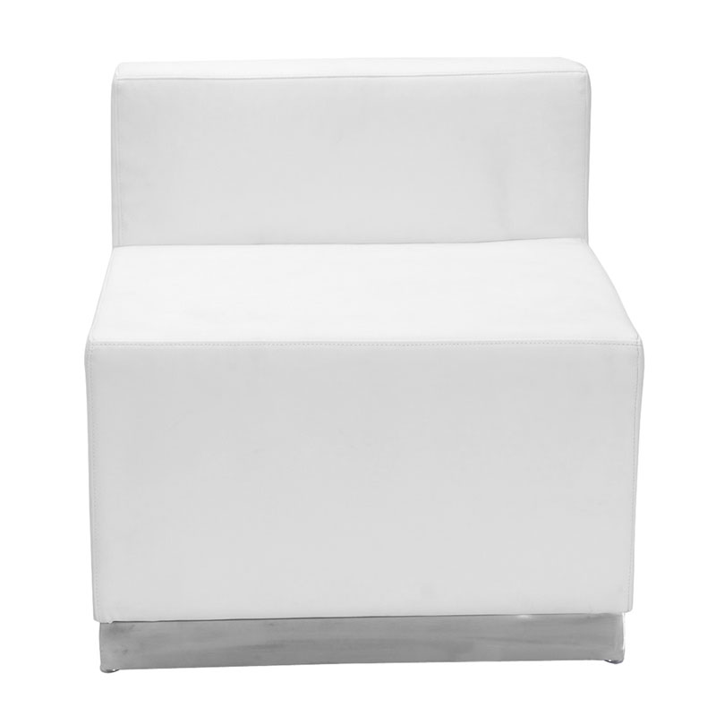 Gentil Call To Order · Avalon Modern Modular Armless Chair In White