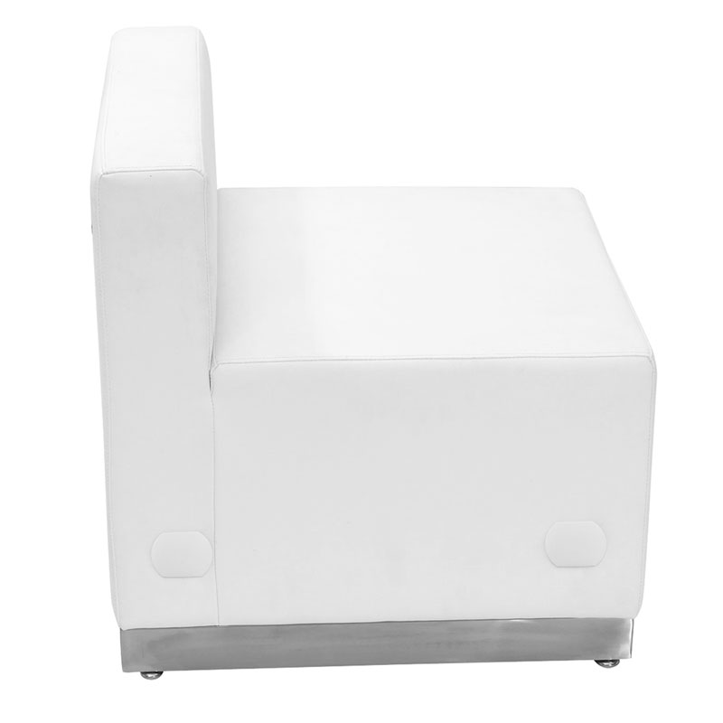 ... Avalon White Modern Modular Armless Chair ...