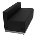 Avalon Modern Modular Loveseat in Black