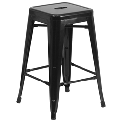 Avenue Black Industrial Counter Stool