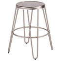 Avenue Modern Industrial Stainless Steel Counter Stool
