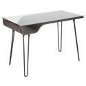 Avenue Modern Desk in Dark Grey