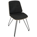 Avenue Modern Side Chair in Dark Gray and Black