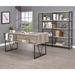 Avilla Contemporary Gray Driftwood Desk - Back View