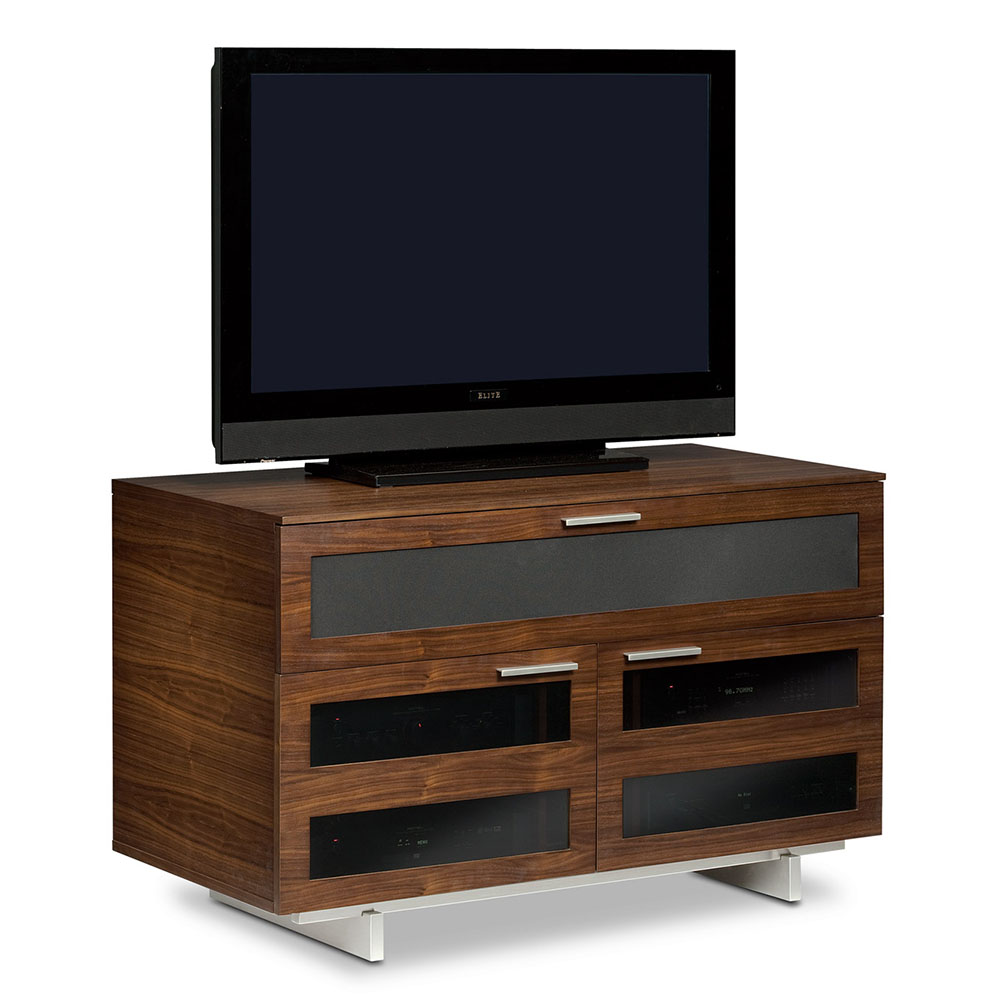 Call To Order Avion Tall Tv Stand In Chocolate Walnut