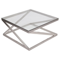 Axis Modern Brushed Nickel Coffee Table