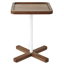 Gus* Modern Axis Modern End Table in Walnut